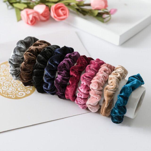 Velvet Elastic Hair Rope Tie Scrunchie Ponytail Holder Accessories Women