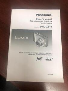 Panasonic lumix dmc-zs10 owner's manual pdf download.