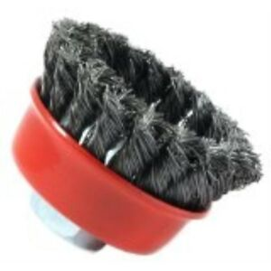 Knotted with 5//8-Inch-11 Threaded Arbor 6-Inch-by Forney 72756 Wire Cup Brush