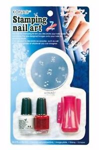 Konad Stamping Nail Art Set D Starter Kit 722166395454 Ebay
