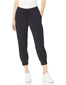 Essentials Women's French Terry Fleece Capri Jogger, Black, Size Large