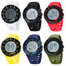 OHSEN Digital LCD Backlight Day Alarm Womens Mens Military Sport Rubber Watch