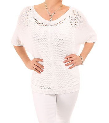 New Crochet Style Boat Neck Top