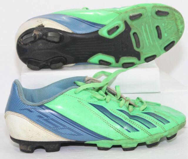 bf56fb629b3 Adidas G65432 F5 TRX FG J Green   Blue Soccer Cleats Shoes Youth Boys Size 4