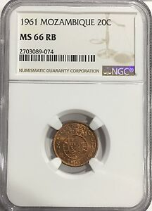 Lovely 1961 Ms66 Rb Mozambique 50 Centavos Ngc Km #85 Top Pop 2/0! Other African Coins Coins: World