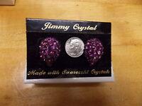 Fashion Jewelry Jimmy Crystal Earrings Swarowski Crystal Purple Tear Drop