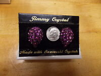 Fashion Jewelry Jimmy Crystal Earrings Swarowski Crystal Purple Tear Drop