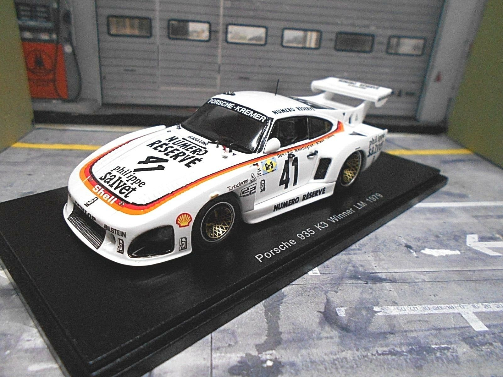 Porsche 935 k3 Kremer Winner  41 Le Mans Ludwig Whittington numero RE Spark 1 43