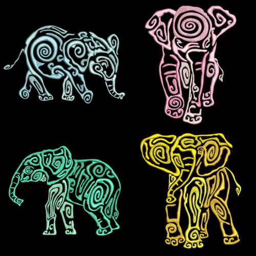 BABY ELEPHANT WALK 10 Machine Embroidery Designs CD FREE SHIPPING 4in