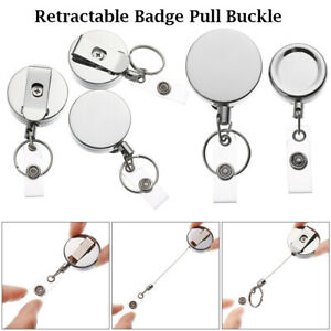 Anti-Lost-Clip-Metal-Stationery-Retractable-Lanyards-Key-Ring-Badge-Holder