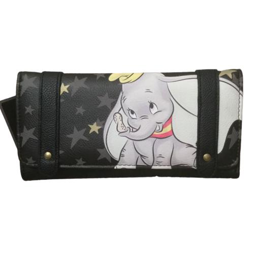 Loungefly X Disney Dumbo Long wallet Card case Backpack Bag Black RARE