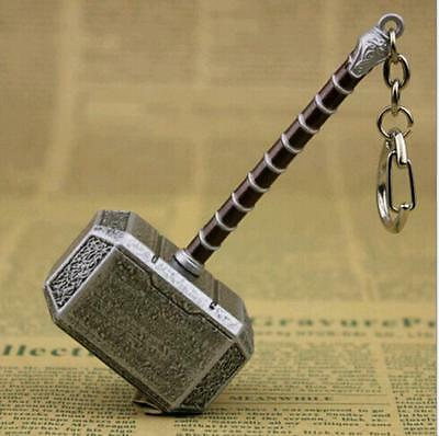 Marvel The Avengers Thor hammer Metal Keychain Key Chain Keyring10cm