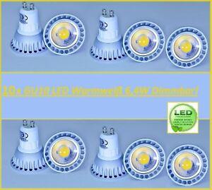 10x-GU10-Led-6-4W-Warmweiss-Leuchtmittel-Lampe-Strahler-Spot-Birne-Dimmbar
