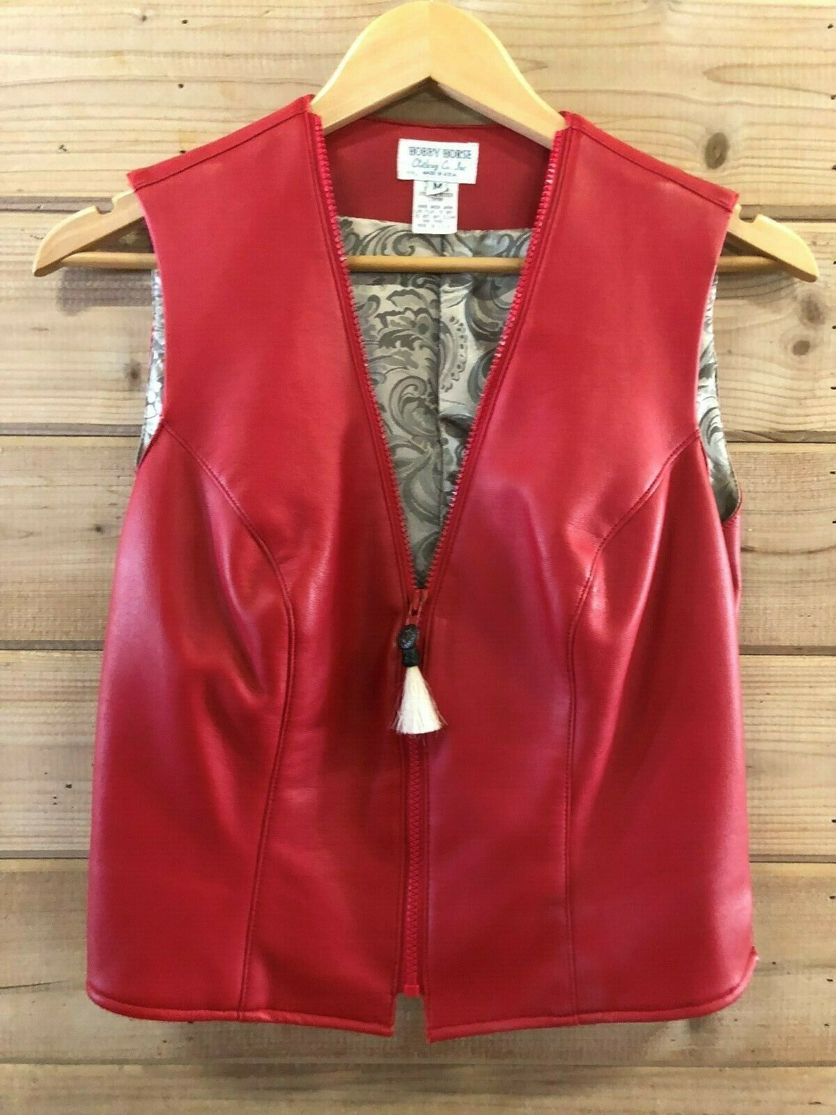 Hobby Horse  Pleather Western Show Vest Red with  Lining  best offer