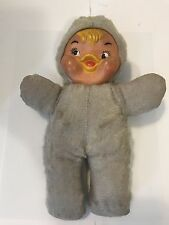 Vintage Columbia Toy Products Rubber Face Stuffed Plush Duck Doll