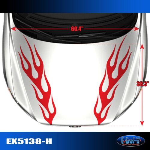 5138-H Hood Flame Tuner Vinyl Graphics Decals CAR TRUCK High Quality EgraF-X