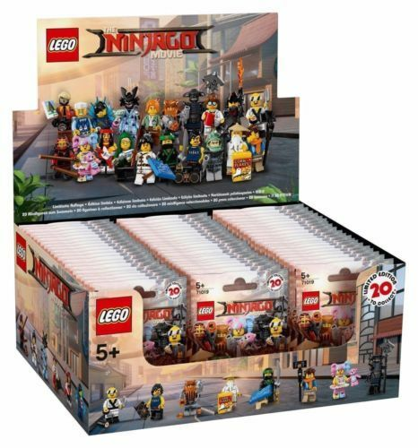 NEW Lego 71019 Ninjago Movie Series Box Case of 60 Minifigures