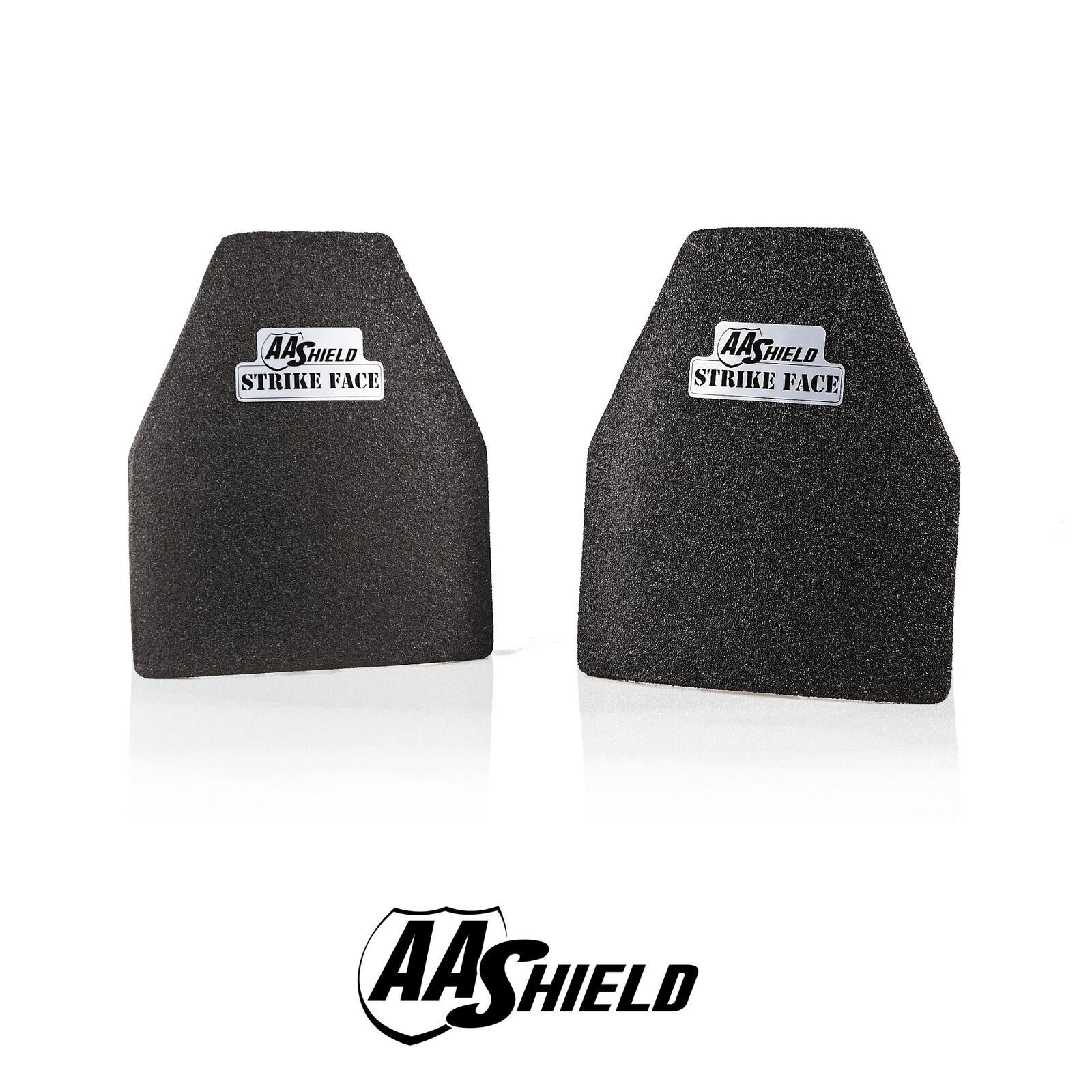 AA Shield Bulletproof Body Armor Hard Plate Lvl IIIA 3A 10x12Swimmer Cut Pair