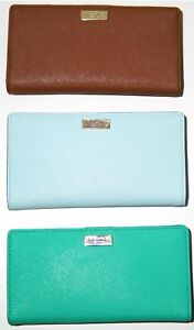 NWT-Kate-Spade-Laurel-way-Stacy-Leather-Wallet-New-York-Wellesley-Printed-Stacy