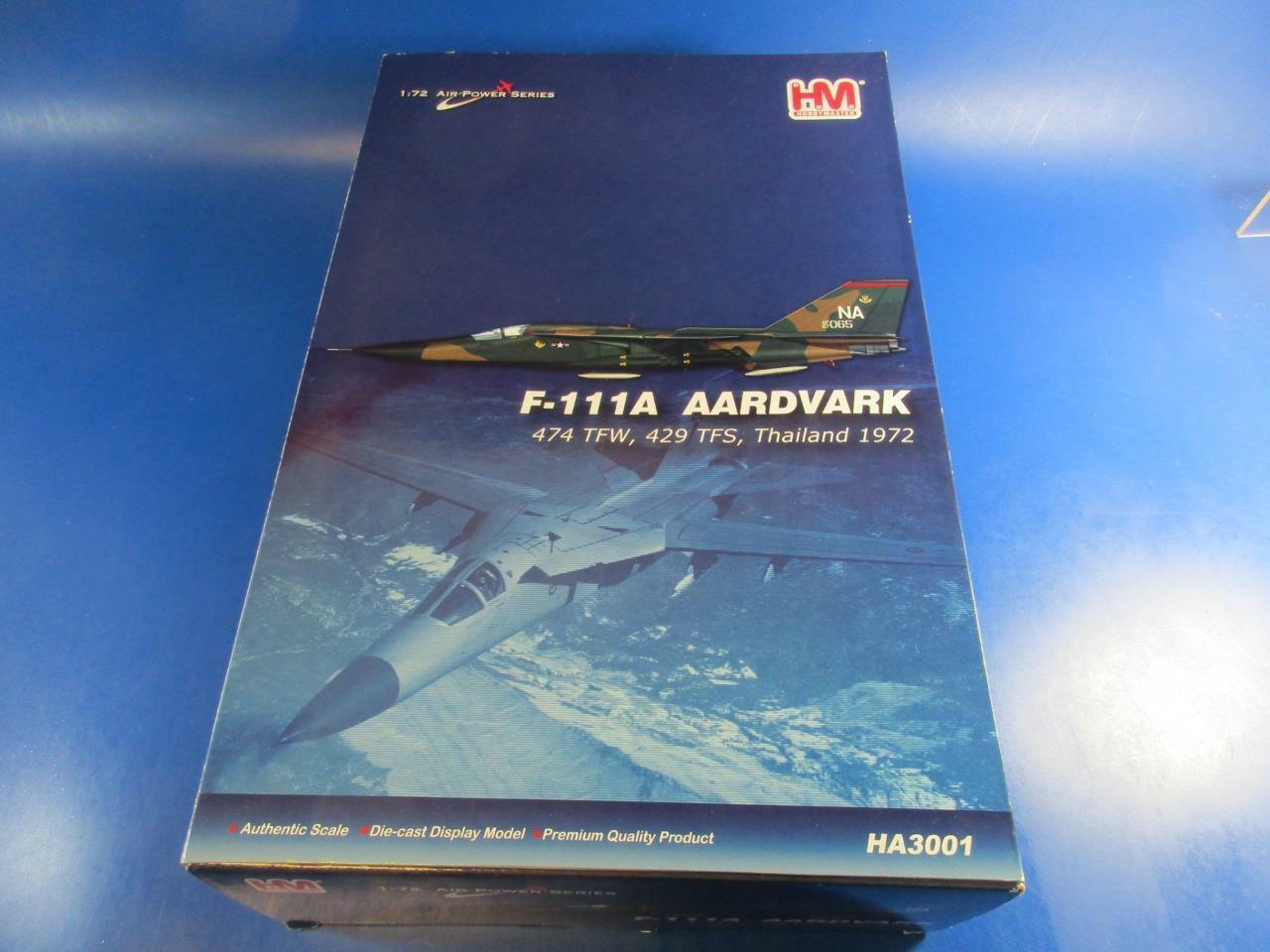HOBBYMASTER HA3001 F-111A  AARDVARK, 1 72, MIB  connotation de luxe discret