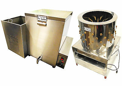RITE FARM PRODUCTS X-LARGE PRO CHICKEN PLUCKER & 32 GAL SCALDER COMBO POULTRY
