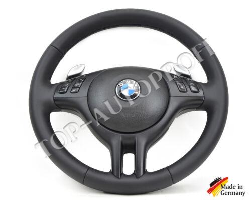 BMW e46 m3 e39 m5 M Sport Volant balancent Volant Volant en cuir NOUVEAU rapportent