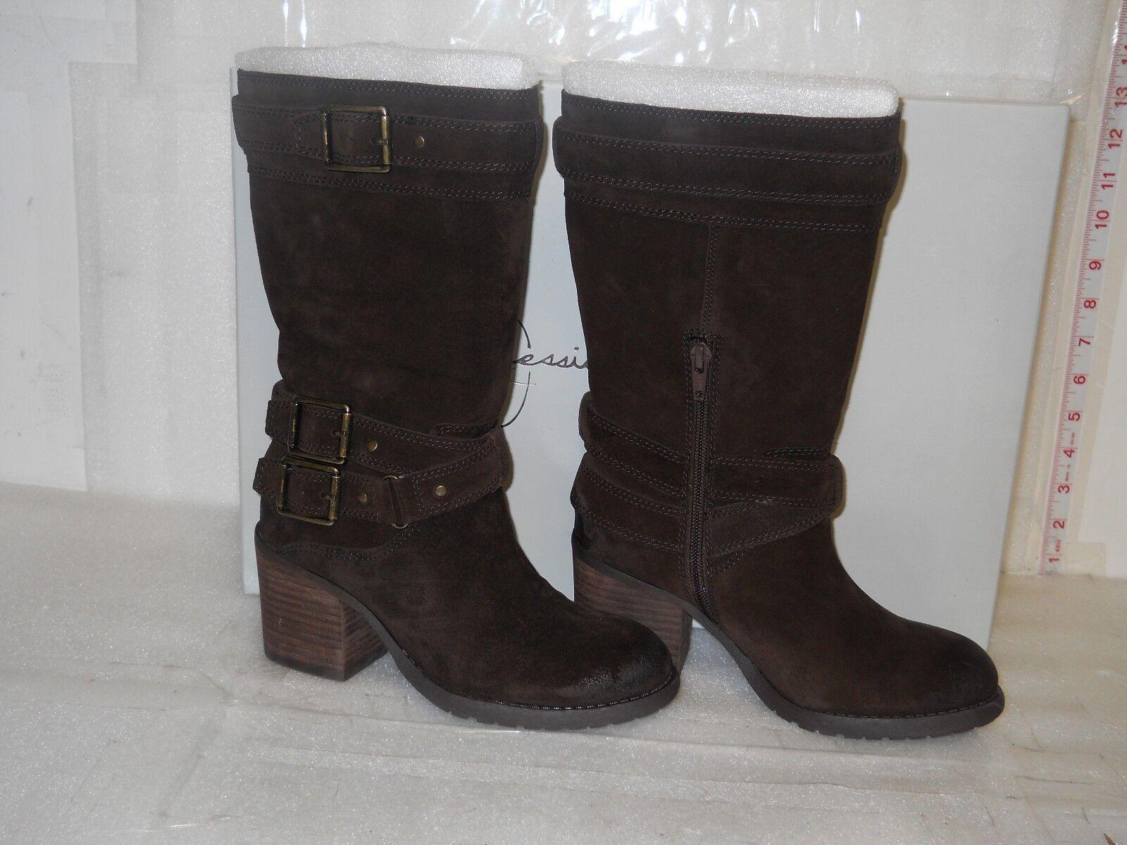 Jessica Simpson NEU Damenschuhe Nermin Tobacco Suede Leder Stiefel 5 M Schuhes