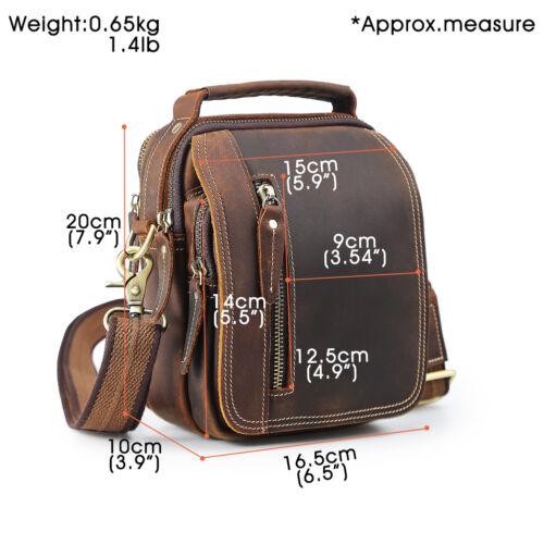 Vintage Style Men/'s Real Leather Small Waist Bag Messenger Shoulder Bag Handbag
