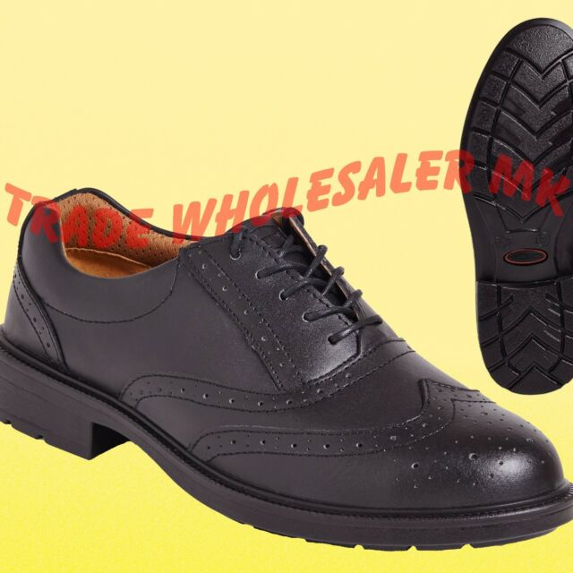 293443abf78 City Knights Leather Steel Toe Cap Brogue Safety Shoes Smart Office SS500CM