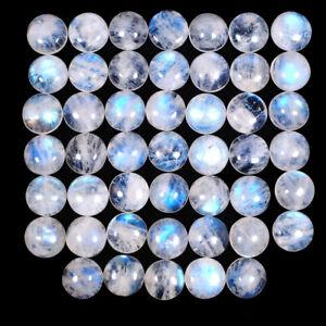 47-Pcs-Natural-Rainbow-Moonstone-Blue-Shines-12mm-Round-Loose-Cabochon-Gemstones