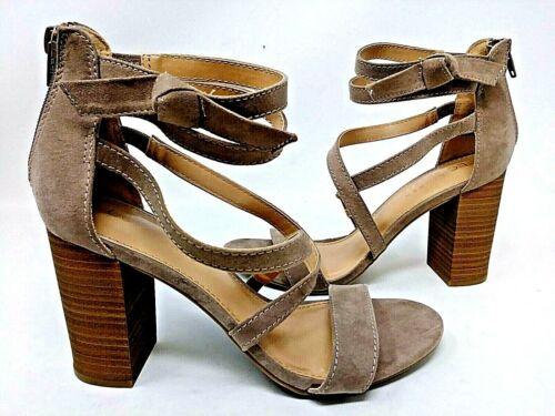 Lauren Conrad Women/'s Walnut High Heel Sandals Taupe #160089 2F tp NEW