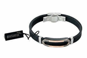 BARAKA Men's BR251271RODN200020 Gold PVD Steel Diamond Bracelet