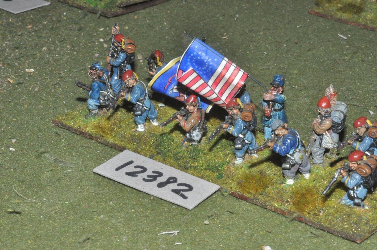 25mm ACW   union - american civil war infantry 13 figures - inf (12382)
