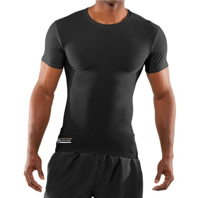 Under Armour Men's UA Tactical Heatgear Compression T Shirt BLACK 1216007