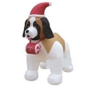 CHRISTMAS-ST-BERNARD-DOG-SANTA-7-FT-AIRBLOWN-INFLATABLE-YARD-DECORATION