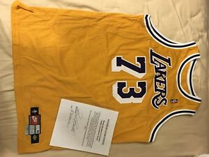 9f77a5a60fa Image is loading Dennis-Rodman-Lakers-Game-Worn