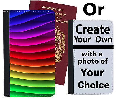 Bellissimo Colorata Arcobaleno Custodia Per Passaporto Multicolore Strisce Modello Bambini Copertura C144-mostra Il Titolo Originale Sii Amichevole In Uso