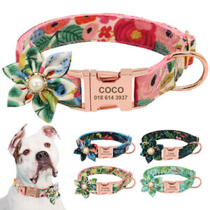 Nylon-Personalized-Engraved-Dog-Collar-Custom-ID-Side-Release-Buckle-Adjustable
