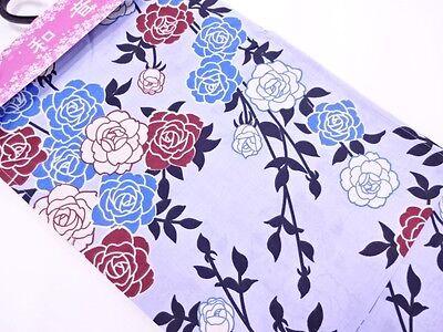 Vendita Nuovo Con Etichetta Giapponese Da Donna Blu Chiaro 'rose's Cotton Kimono/vestaglia/kimono Estivo M/l Lungo-kata M/l Long It-it Mostra Il Titolo Originale