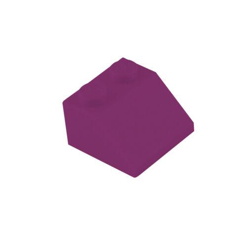 Lego 50 purpur Schrägsteine 45° Neu Basics Dachsteine 2x2 3039 magenta