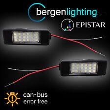 Para Citroen C2 C3 C4 C5 C6, C8 Ds3 & Pluriel 18 Led matrícula Luz Lámpara Par