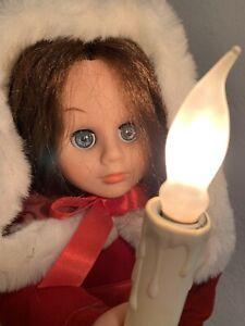"Vintage Rennoc Caroler 24"" Christmas Animated Electric Candle Victorian Girl"