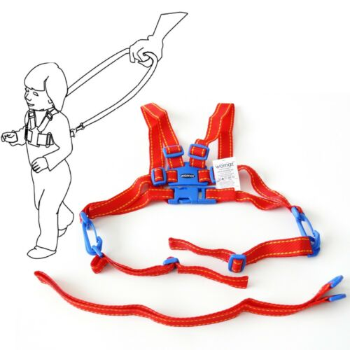 Baby Kid Toddler SAFETY HARNESS Learning To Walk Assistant Walking Reins Red