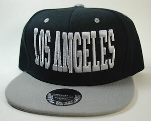 42fe1ccdf4e LOS ANGELES Snapback LA Supreme Hat Baseball Cap Black Grey West ...