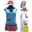 Pokemon green leaf of with hat and Halloween bag with Cosplay costume
