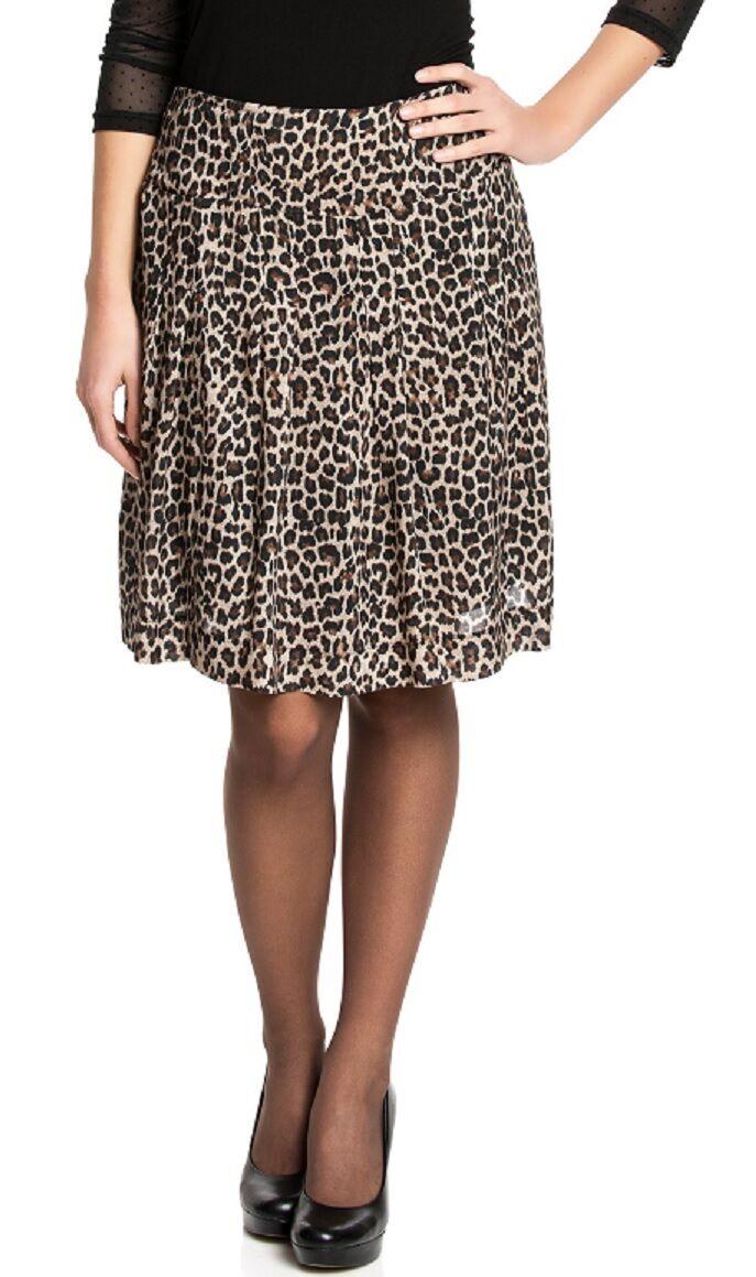 Vive Maria Jupe léopard fille jupe motif léopard jupe plissée brun-black 31701