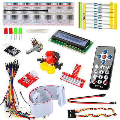 Basic Starter Kit for Raspberry PI 1/2 GPIO Pinboard 1602LCD Resistor LED Cable