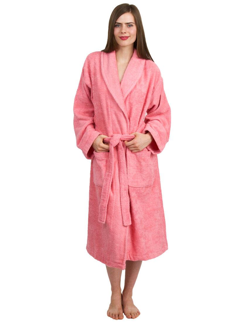 TowelSelections Women's Terry Cloth Robe, Turkish Cotton Shawl Collar Bathrobe