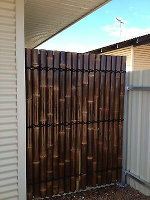 1.8M x 0.9M BAMBOO FENCE PANEL, PRIVACY SCREENS - BROWN - PRESALE ARRIVE 18/4/17