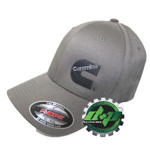 Dodge-Cummins-hat-ball-cap-fitted-flex-fit-flexfit-stretch-dark-gray-grey-L-XL